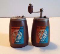 1964-65 New York World's Fair Original Mini Salt Shaker and Pepper Grinder