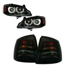 Opel Astra G CC Limo Angel Eyes Scheinwerfer + Rückleuchten Rücklichter schwarz