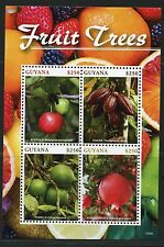GUYANA  2016 FRUIT TREES SHEET OF SIX    MINT NH