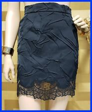 NEW VERSACE BLACK SKIRT with a DENTED EFFECTED and LACE 38 - 4