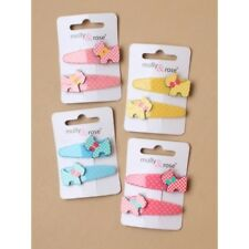 8 X CHILDRENS HAIR SLEEPIES SNAPPIES WITH DOG MOTIVE ON 4 CARDS (AA)