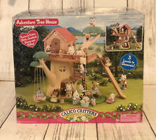 Calico Critters Adventure Tree House New Sun Damage To Box & 3 Critters 1444