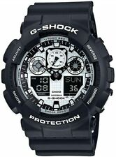 Casio G-Shock GA-100BW-1A Digital Analog Black Sports Men's Watch