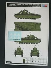 Hobby Boss 1/35th Scale Soviet T-35 Decals & Painting Guide from Kit No. 83843