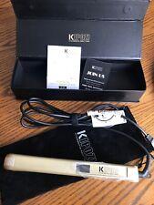 Salon Nano-Titanium Hair Straightener Flat Iron Adjustable Temp K-137 GOLD