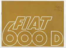 1966 Fiat 600 D & 600 D Multipla brochure