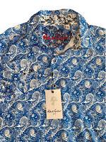 Robert Graham Long Sleeve Shirt Kammerer Blue Men's Multi Sizes $198