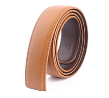 Men's Leather belt strap Automatic sliding buckle Auto-lock Strap only No buckle