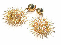 Bijou alliage doré boucles d'oreilles tournesols  earrings