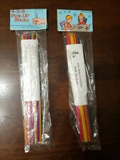 2 Vintage Bags of 4-5-6 Pick Up Sticks - 30 in Each Bag With Instructions NIP