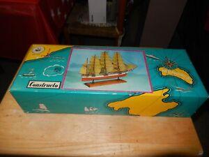 Vintage NEW Constructo U-601 Great Republic Clipper  Wood Model Ship Kit