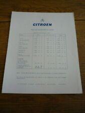 CITROEN ID, DS, SAFARI, DROPHEAD COUPE UK PRICE LIST  BROCHURE 1966