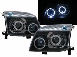 X-TRAIL T30 01-07 SUV Guide LED Angel-Eye Projector Headlight BK for NISSAN RHD