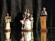 Vintage African American Family Figurines (3) Classic Collectable Display a.c.k.