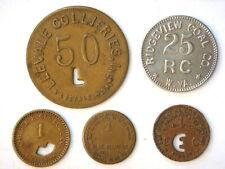 5 different Coal Scrip tokens