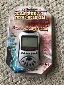 Las Vegas Texas Hold 'EM Maximo Handheld Electronic Video Poker Game 7 Players