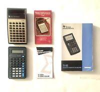 Vintage Texas Instruments Calculator Lot | TI-30, TI30-STAT & TI-85 Manual