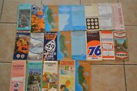 Vintage CA Texaco Chevron Mobil Los Angeles San Diego Street Maps Lot of 21