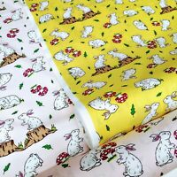 Easter Loveable bunny Fabric 100% Cotton Fabric kids prints - clothing, crafts