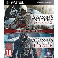 Assassin's Creed Black Flag & Rogue Doble Pack PS3 PlayStation 3 Video Juego
