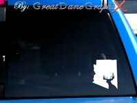 Arizona Deer Hunting State Vinyl Decal Sticker / Color - HIGH QUALITY