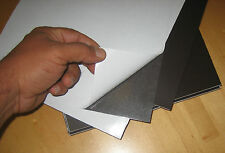 *40 Thick Rubber Magnet Sheets 8x11 SELF ADHESIVE, School Project ,Business card