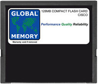 128MB COMPACT FLASH CARD MEMORY FOR CISCO 7301 ROUTER ( MEM-7301-FLD128 )