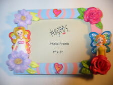 "NEW Herdoos Hand Painted PICTURE FRAME Flowers Hearts FAIRIES 7x5"" photo size"