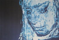 NEGATIV SERIE - original Porträt - signiert Gemälde Druck - Sammlerstück selten3