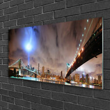 Glass print Wall art 100x50 Image Picture Bridge Architecture