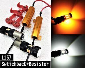 Brake Light 1157 3496 7528 BAY15D 3030 Amber 3020 White Switchback LED M1 R