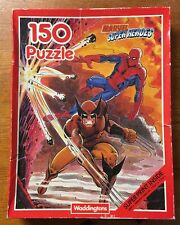 RARE Waddingtons Marvel Super Heroes 150 Puzzle Jigsaw - 1 Piece Missing