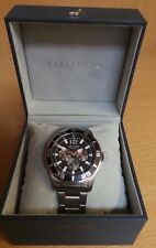 NAUTICA WATCH - MODEL A15656G - STAINLESS STEEL - MINT CONDITION