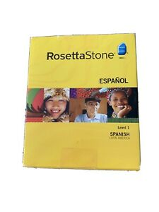 Rosetta Stone Espanol Spanish Latin America Level 1 Set Learning COMPLETE in Box