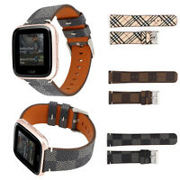 For Fitbit Versa/Lite Tracker Leather Replacement Watch Wristband Bracelet Strap