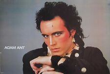 "ADAM ANT ""HEAD SHOT WEARING MAKE-UP"" COMMERCIAL POSTER FROM 1984, New Wave Music"
