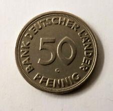 50 Pfennig Bank Deutscher Länder 1950 G // Rarität