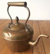 Vintage Early C20th Copper Kettle Swan Neck Acorn Finial Stove Hob Water Tight