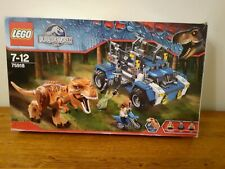 Lego Jurassic World T Rex Tracker 75918 100% Complete,Boxed,Mini Figures
