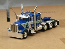 Dcp Custom Peterbilt 389 blue/silver 4 axle heavyhaul tractor 1/64