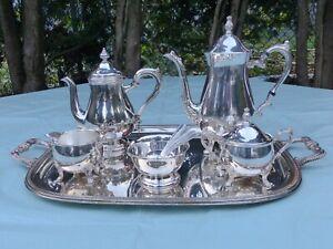 Antique Sheridan Taunton/Plandor Silver Plated Coffee/Tea Set