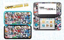 STICKER BOMB - vinyl Skin Aufkleber für Nintendo NEW 2DS XL (C-Stick)- réf 192