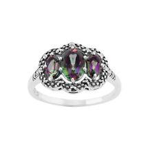 Topaz Sterling Silver Not Enhanced Fine Gemstone Rings