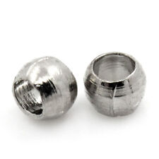 3000PCs Silver Tone Crimp Beads 1.5mm