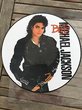 "Michael Jackson LP Picture Disc "" BAD "" UK Réedition ( Thriller - History ) !!!"
