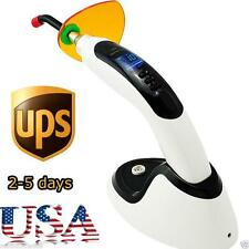 1800MW Wireless Cordless LED Dental Curing Light Lamp 12mm tip Whitenin US A+