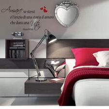 wall stickers frase frasi adesivi murali camerette oscar Wilde vita amore love