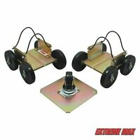 Extreme Max 5800.0200 Power Wheels Drivable Snowmobile Dollies - Standard Sled