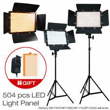 2 x 500 LED Professional Photo Studio Video Light Panel Camera Photo Lighting
