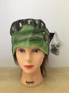 FRANKENSTEIN MONSTER LATEX HEADPIECE SCULPTED HAIR & BOLTS COSTUME ACC TA14